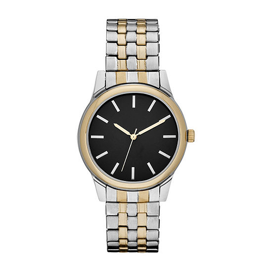 Mens Two Tone Expansion Watch-Fmdjo143
