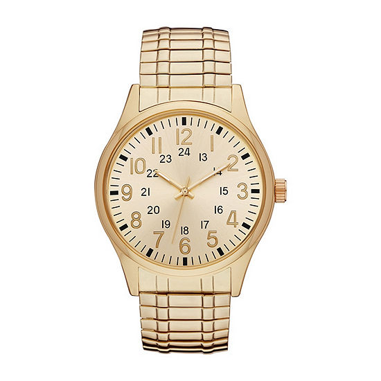 Mens Gold Tone Expansion Watch-Fmdjo141