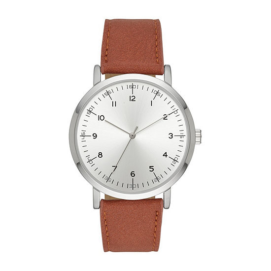 Mens Brown Strap Watch-Fmdjo146
