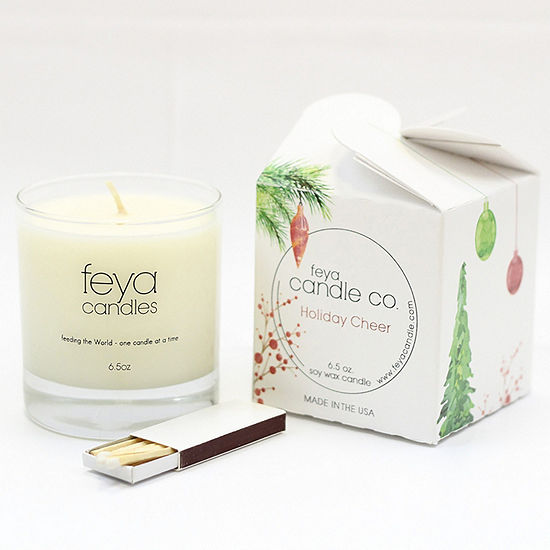 Feya Candle 6.5oz Holiday Cheer Soy Candle