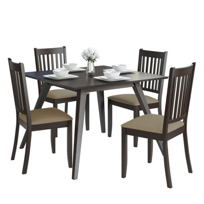 CorLiving Atwood 5pc Dining Set with Microfiber Seats