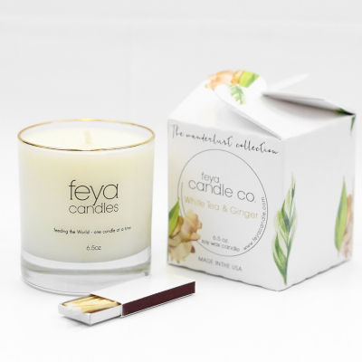 Feya Candle 6.5oz White Tea & Ginger Soy Candle