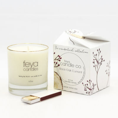 Feya Candle 6.5oz Black Oak Currant Soy Candle
