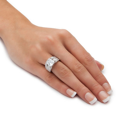 Diamonart Womens 3 1/4 CT. T.W. Princess White Cubic Zirconia Engagement Ring