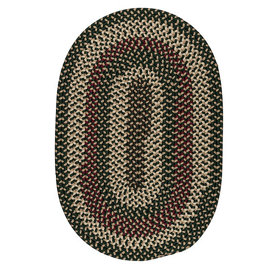 Colonial Mills Brook Farm Reversible Braided Indoor or Outdoor Oval Rug