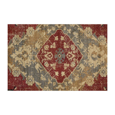 Tayse Fiona Transitional Border Round Area Rug