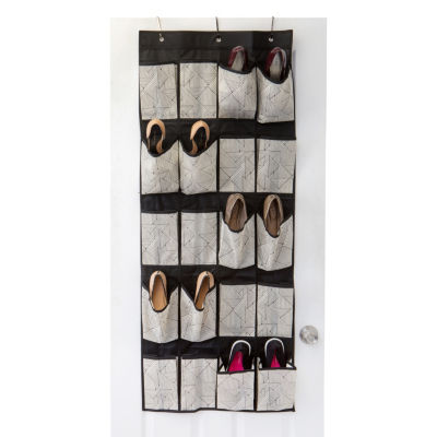 Non-Woven 20 Pocket Shoe Organizer - Geo Natural