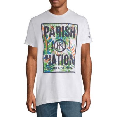 Parish Short Sleeve Leaf Graphic T-Shirt