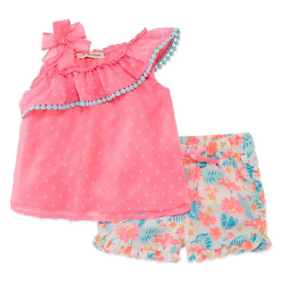 Self Esteem 2-pc. Short Set Toddler Girls