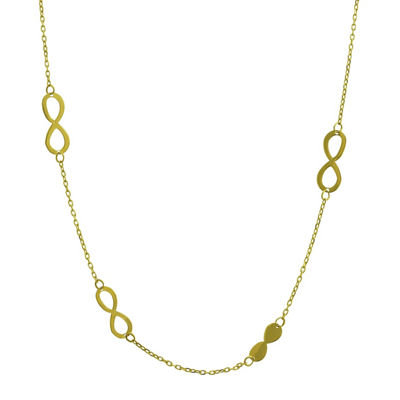 Made in Italy 14K Gold 17 Inch Semisolid Cable Chain Necklace