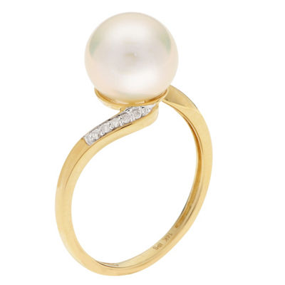 Womens Diamond Accent White 14K Gold Cocktail Ring