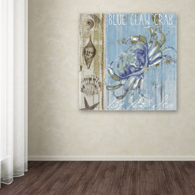 Trademark Fine Art Color Bakery Blue Crab I GicleeCanvas Art