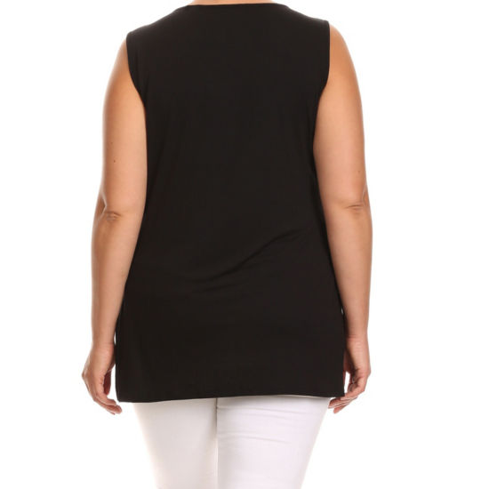 Kaily K. Sleeveless Tunic with Studs - Plus