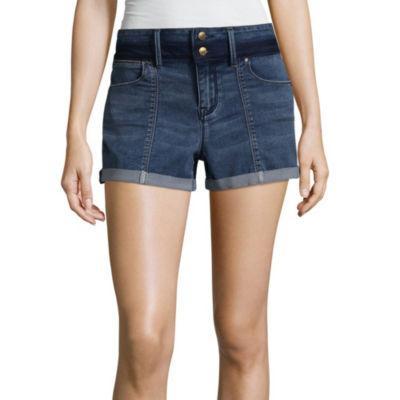 """Us Polo Assn. 3 1/2"""" Denim Shorts-Juniors"""