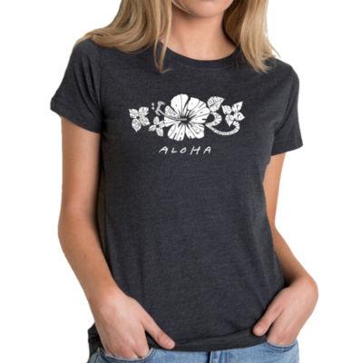 Los Angeles Pop Art Women's Premium Blend Word ArtT-shirt - ALOHA
