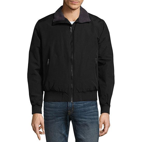 St. John's Bay Lightweight Fleece Lined Microfiber Jacket
