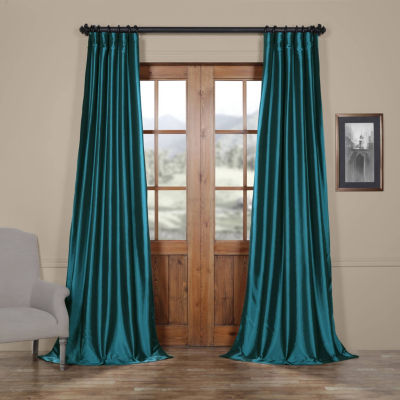 Exclusive Fabrics & Furnishing Faux Solid Taffeta Curtain Panel
