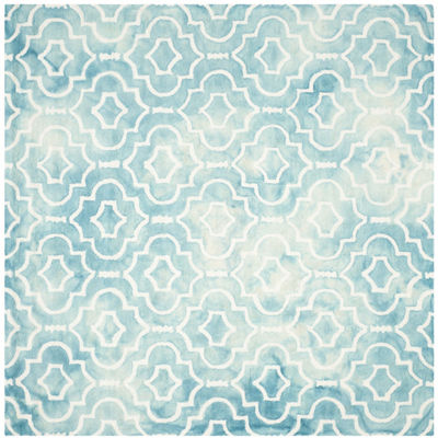 Safavieh Dip Dye Collection Devnet Geometric Square Area Rug
