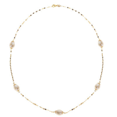 14K Gold 21 Inch Solid Link Chain Necklace