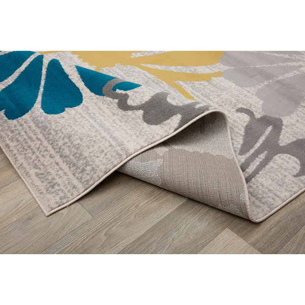 World Rug Gallery Contemporary Modern Large FloralFlowers Runner Rug