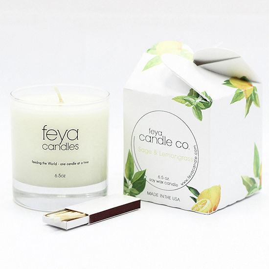 Feya Candle 6.5oz Sage & Lemongrass Soy Candle