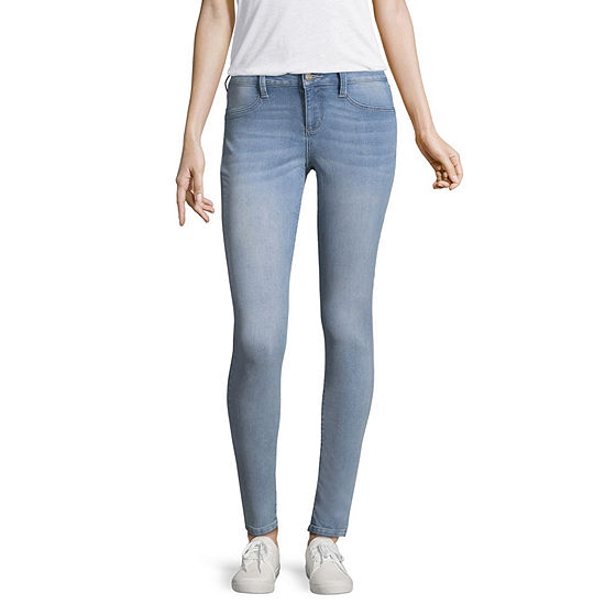 Arizona Womens Mid Rise Skinny Jeggings - Juniors
