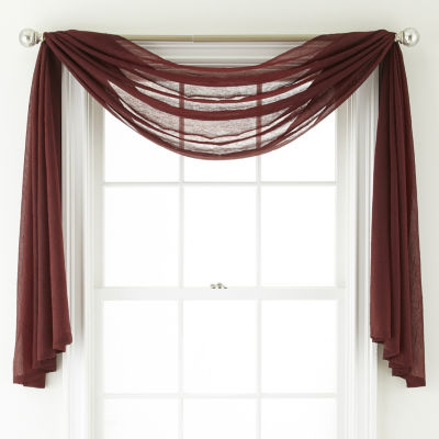 Home Expressions Crushed Voile Scarf Valance