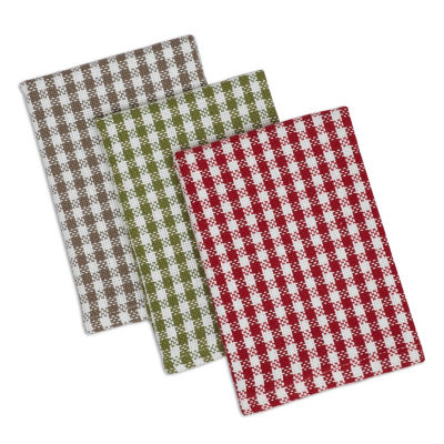 Orchard Checks Heavyweight Dishtowel & Dishcloth Set - Set of 6