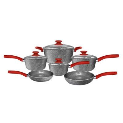 Cerapan Marble Hill 10-Pc.Cookware  Set 10-pc. Aluminum Dishwasher Safe Cookware Set