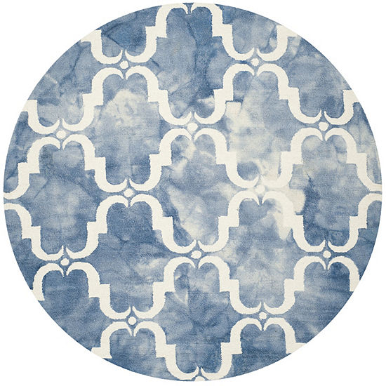 Safavieh Dip Dye Collection Wendell Geometric Round Area Rug