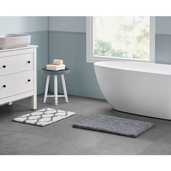 Vcny Ogee Marble 2 Pc Bath Rug Set