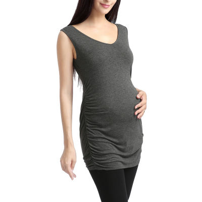 Glow & Grow Women's Lace Back Maternity Tank Top