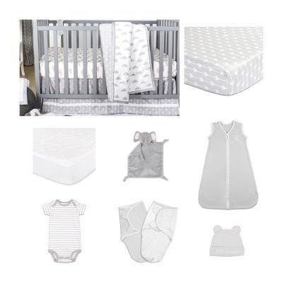 The Peanut Shell Cloud Cover Crib Bedding Set