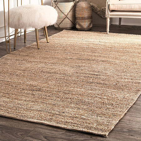 nuLoom Emery Hand Woven Area Rug, One Size , White