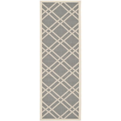 Safavieh Courtyard Collection Hannah Geometric Indoor/Outdoor Runner Rug