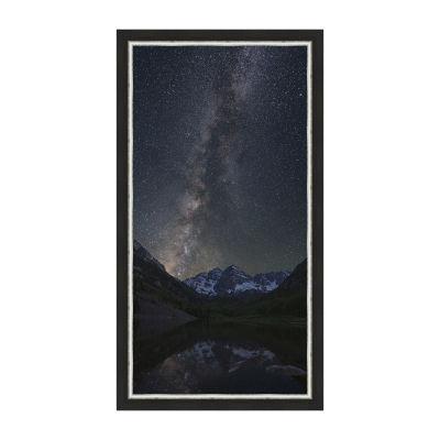 The Maroon Bells Under A Summer Milky Way Framed Canvas Art