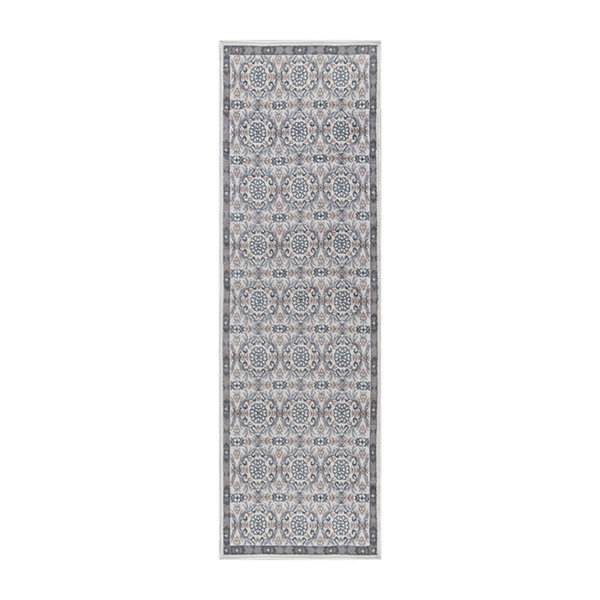 Tayse Izel Traditional Brocade Runner Rug