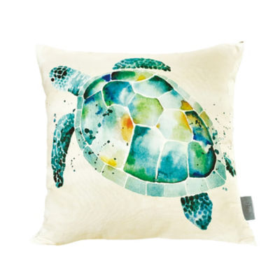 Sara B Sea Turtle Square Pillow