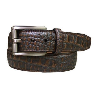 PGA TOUR™ Men's Croc Embossed Belt with Silver Finish Roller Bar Buckle