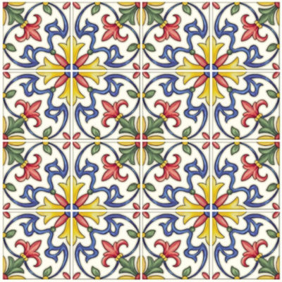 Brewster Wall Tuscan Tile Peel & Stick Backsplash Tile Wall Decal