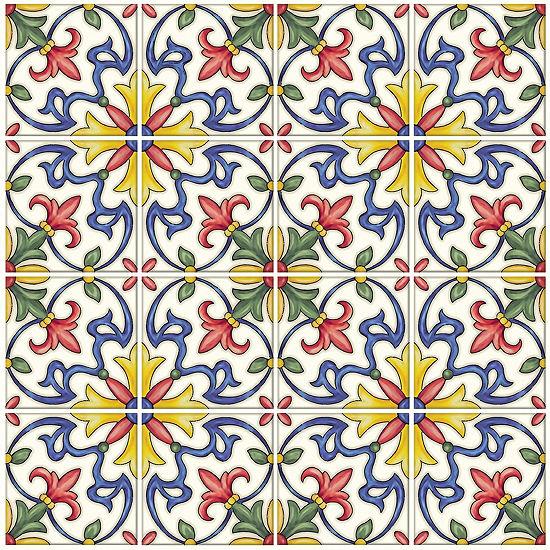 Brewster Wall Tuscan Tile Peel Stick Backsplash Tile Wall Decal