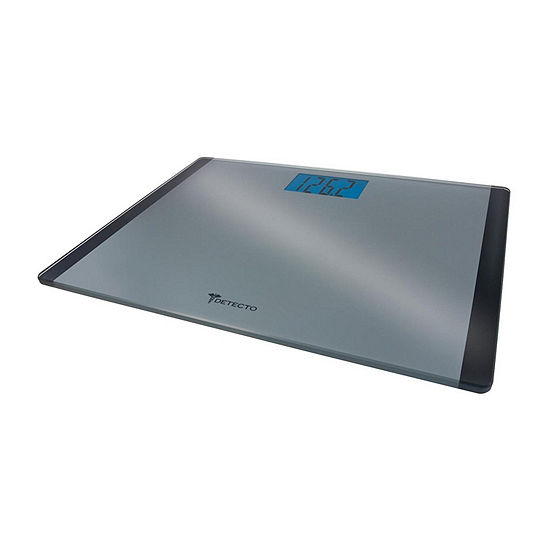 Escali Detecto Wide Body Glass Digital Bathroom Scale