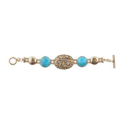 Artsmith By Barse Bronze 7.5 Inch Solid Link Round Link Bracelet