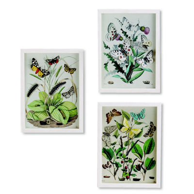 Two's Company Set Of 3 Paper Cut Butterfly Wall Art