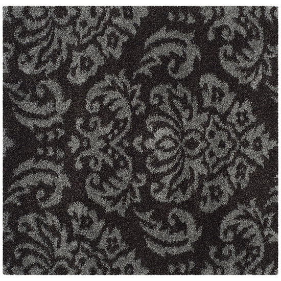 Safavieh Shag Collection Mario Damask Square Area Rug