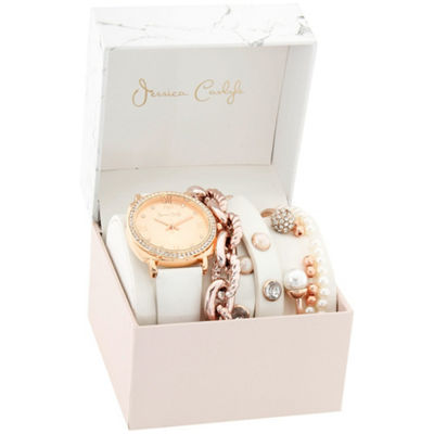 Womens White Bracelet Watch-St2807rg735-001
