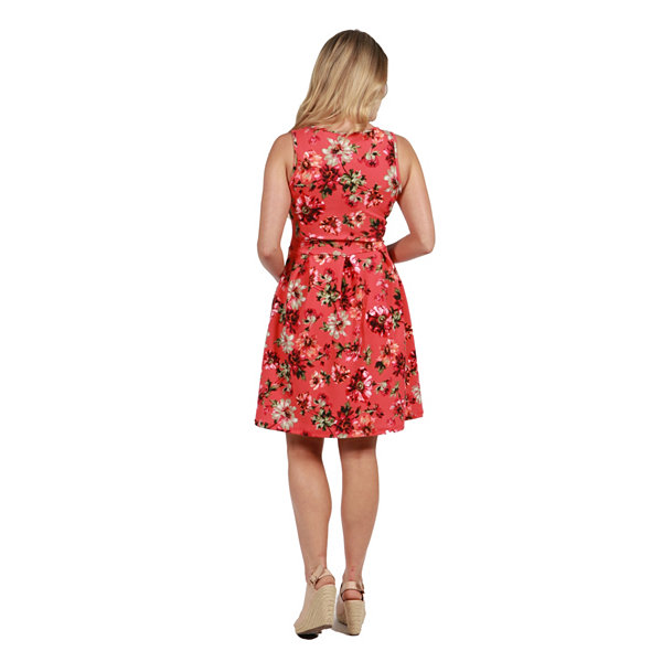 24Seven Comfort Apparel Floral Maternity Mini Dress - Plus