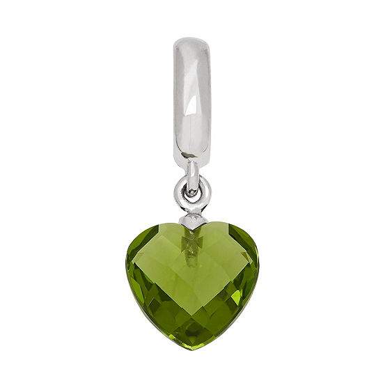 PS Personal Style Simulated Peridot Sterling Silver Heart Charm