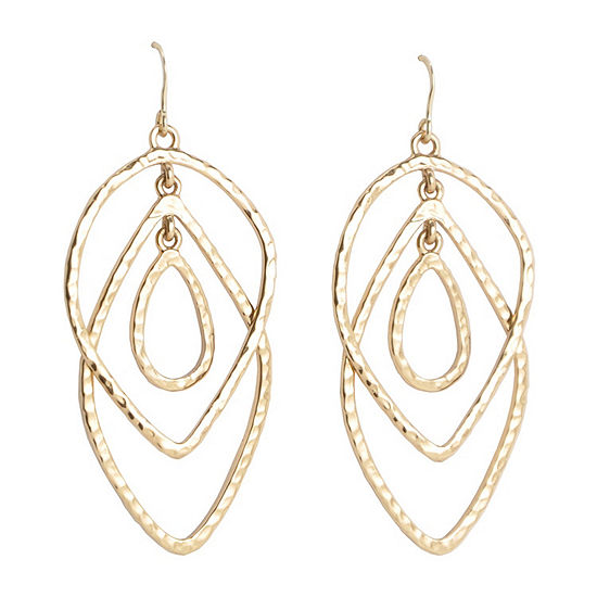 Artsmith By Barse Bronze Rectangular Drop Earrings