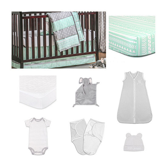 The Peanut Shell Straight As An Arrow Crib Bedding Set